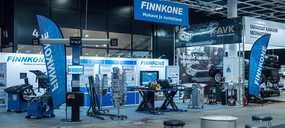Finnkone autokorjaamo 2018 messuilla